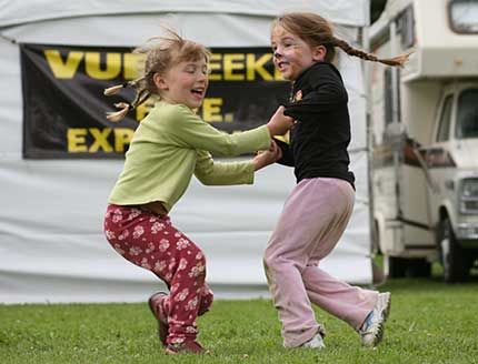 Dont be fooled into thinking that this is merely a picture of two children playing. In fact, this is a glimpse into the joy of exuberant physical living and movement in action by some of the worlds top experts in physical education, play-based learning and development.
