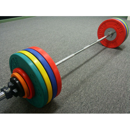 Olympic Barbell with Bumper Plates